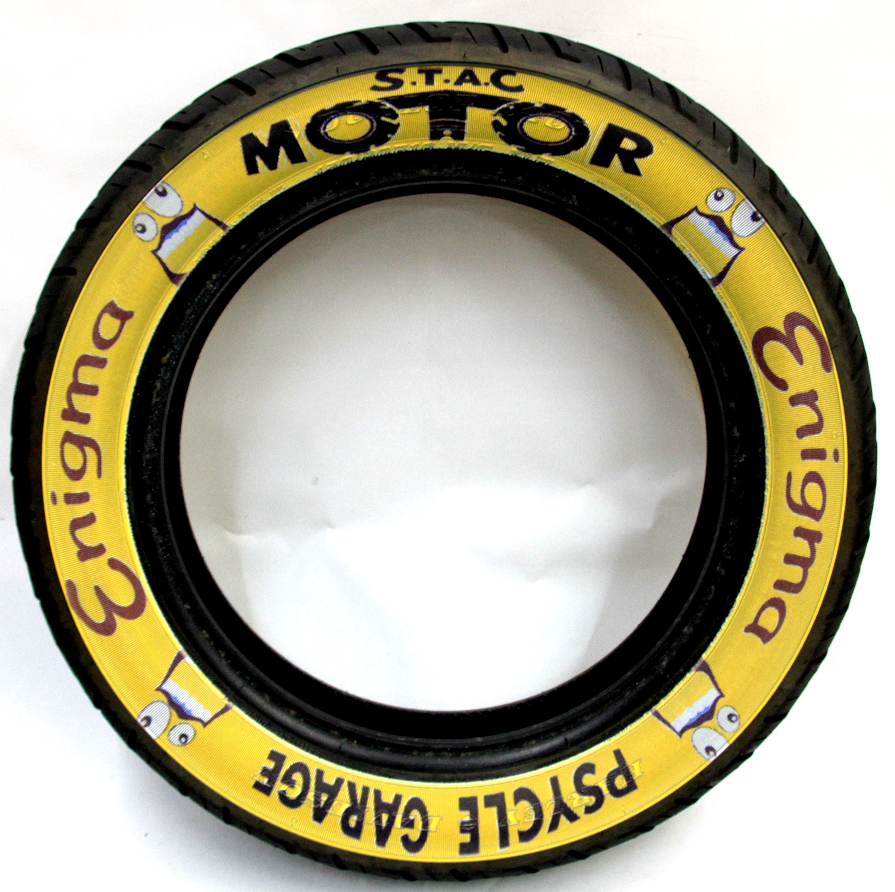 バイクの看板タイヤ
